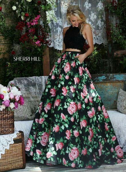 Vestido dos piezas floreado  31ff3dd84300