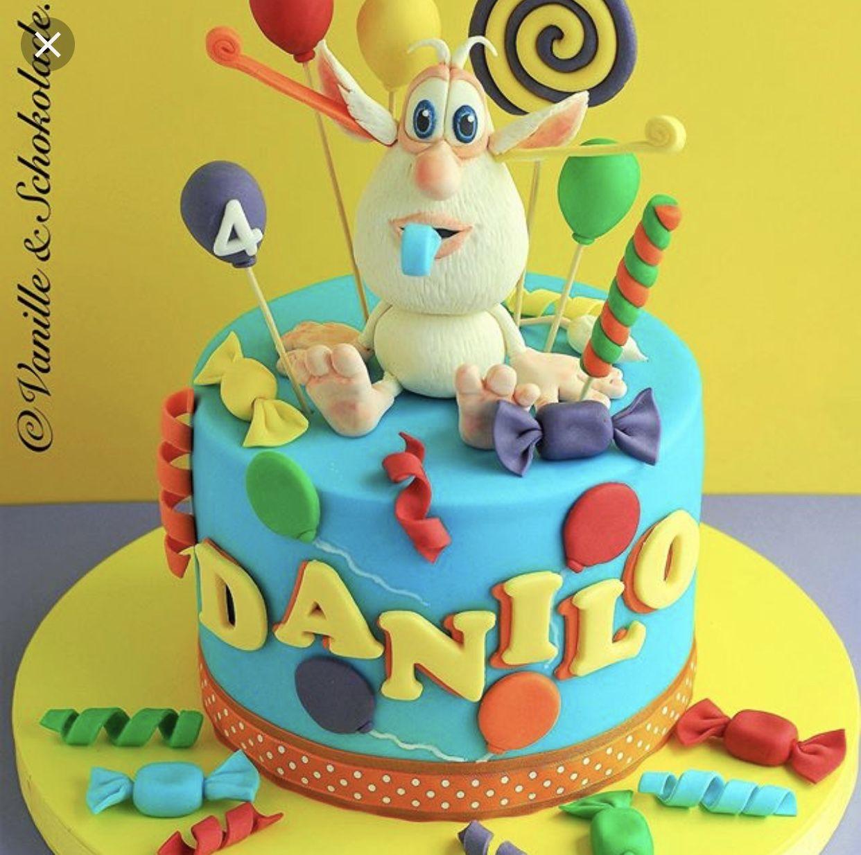 Pin By Melissa Werder On Booba Birthday Ideas Twin Birthday Cakes Cartoon Cake Boy Birthday Cake