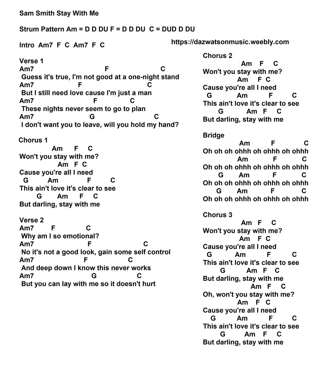 15+ Free Easy Guitar Songs / Tabs, Tutorials, Lessons ~ Strum ...