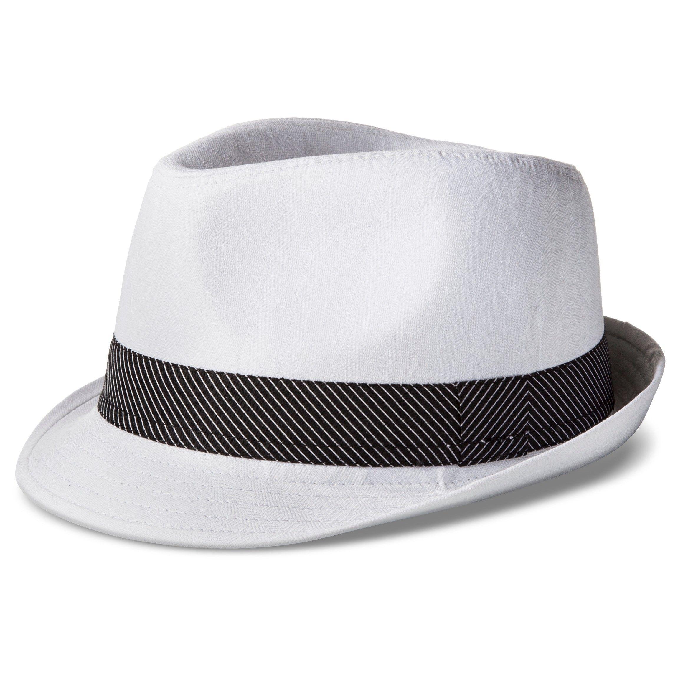 a4666a7495f191 Men's Herringbone Fedora - White/Black | Target Men's Hats | Hats ...