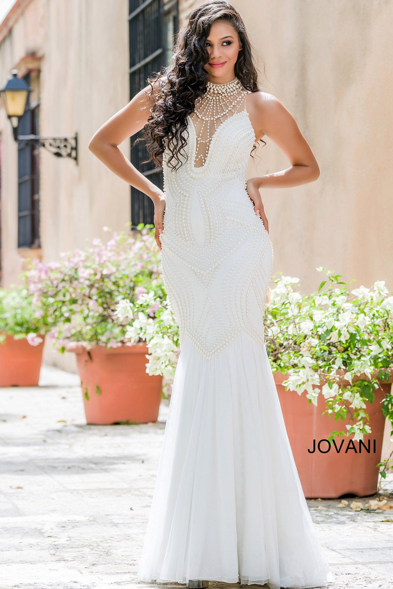 White Mermaid Prom Dress 24663 | Cool stuff to buy | Pinterest ...