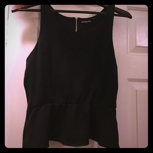 Peplum Top Black sleeveless peplum top. Worn twice and took very good care of. Express size S fits loosely. Express Tops Tank Tops