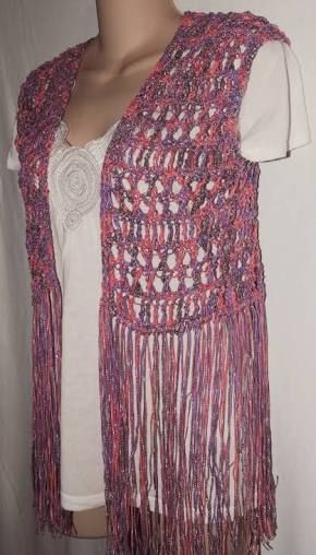 Resultado De Imagen Para Free Crochet Pattern Vest With Fringe