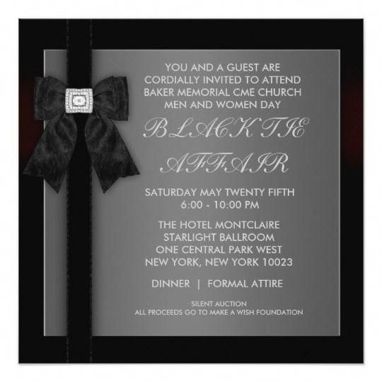 Corporate Black Tie Event Formal Template Card Invitations