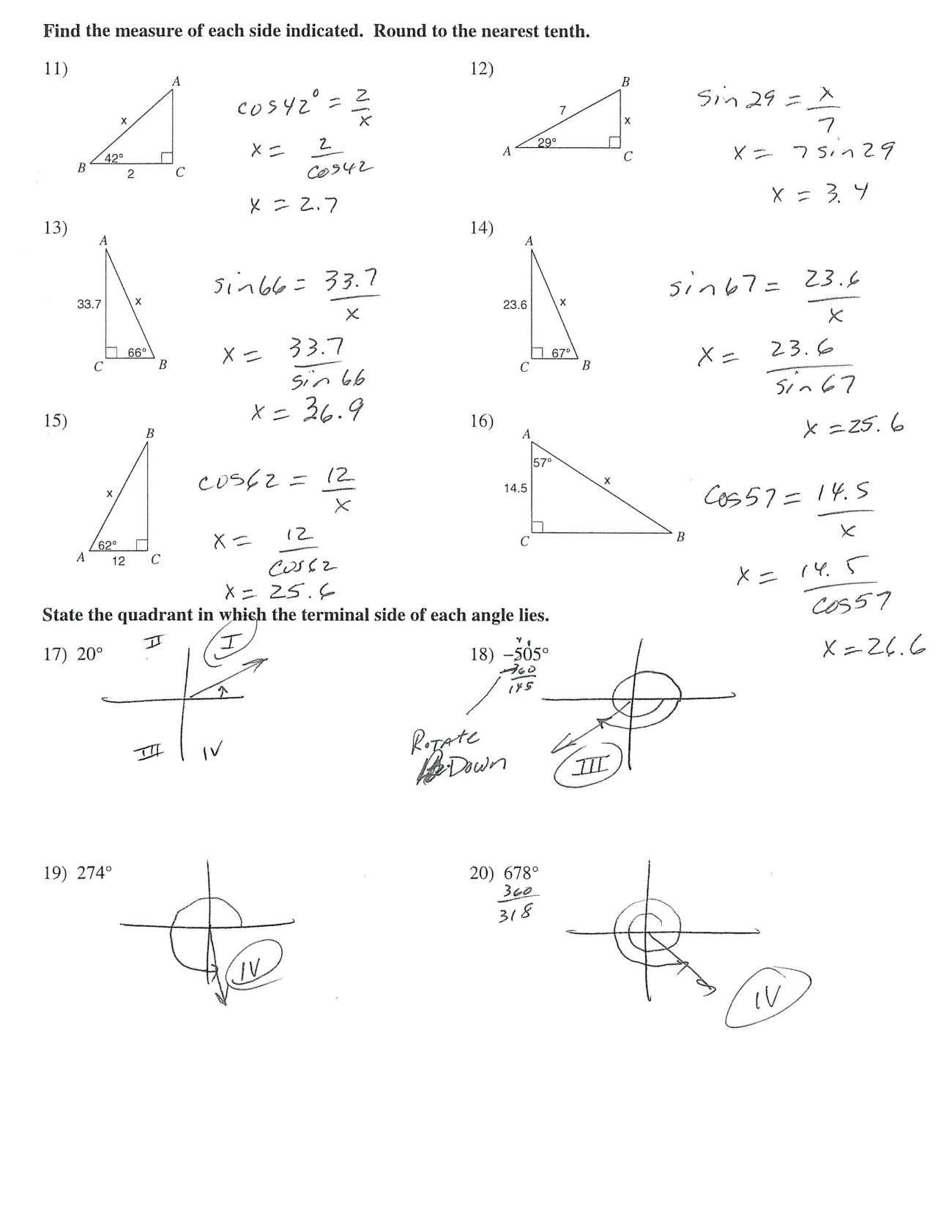 10 Sine Law Worksheet Answers With Work