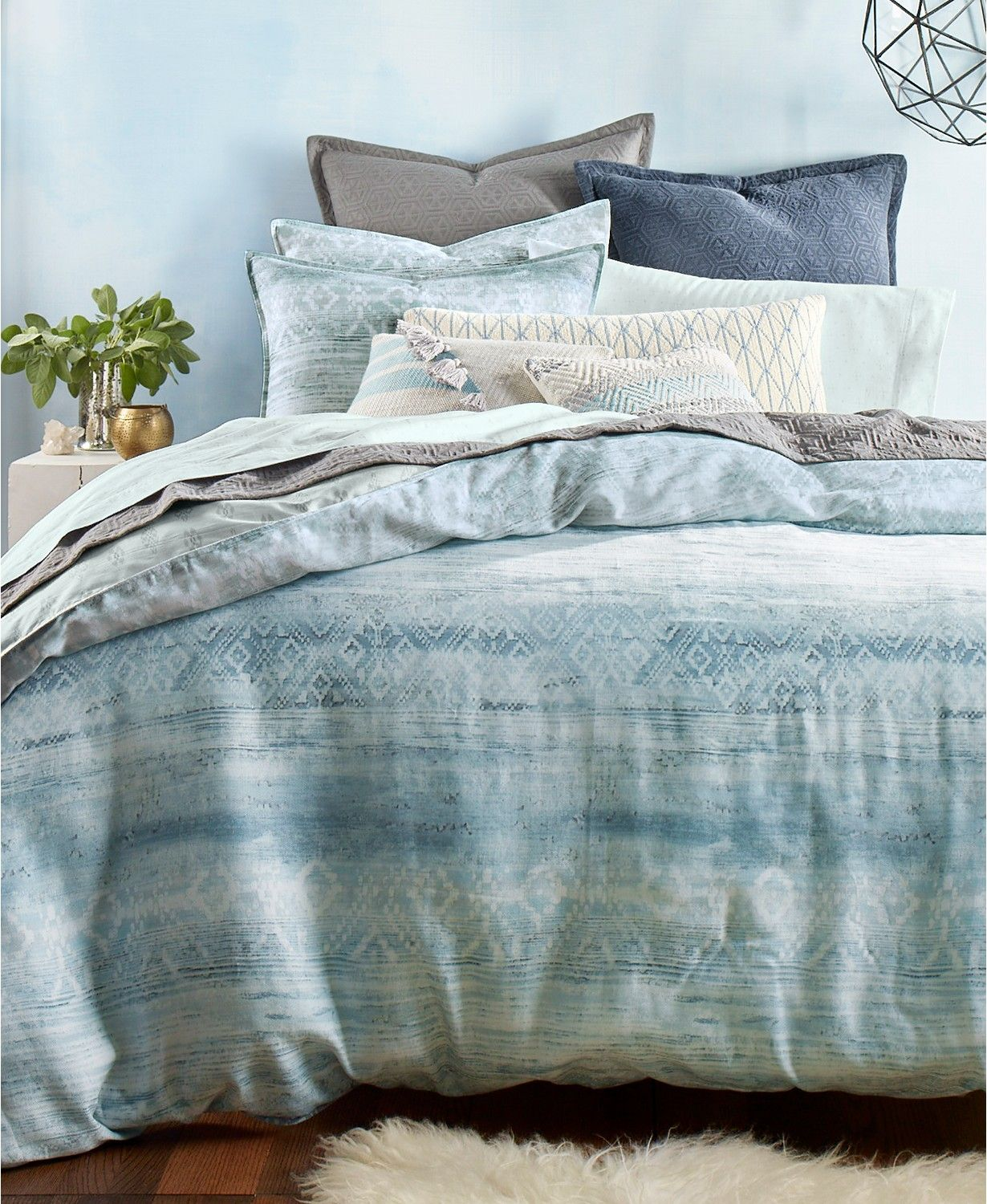 Lucky Brand Laguna Reversible Duvet Cover Sets, Created