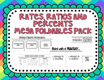 17 Best images about Unit 1 Ratios and Rates on Pinterest   Math ...