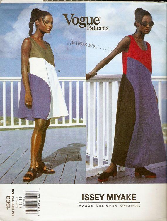 Vogue 1653 Issey Miyake Designer Color Blocked Dress Sewing Pattern by DejaVuPatterns
