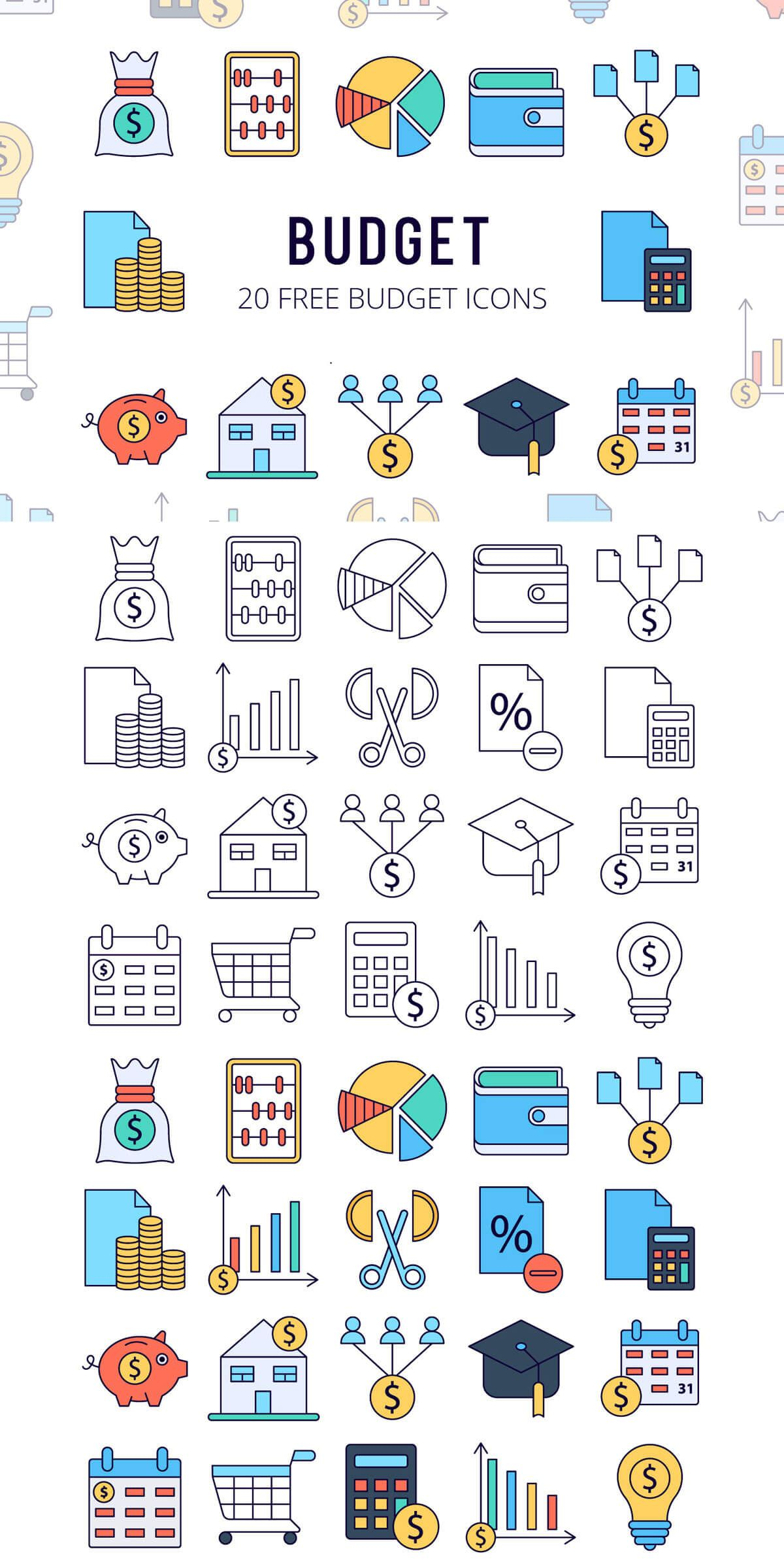Free Budget Vector Icon Set Web design icon, Icon set