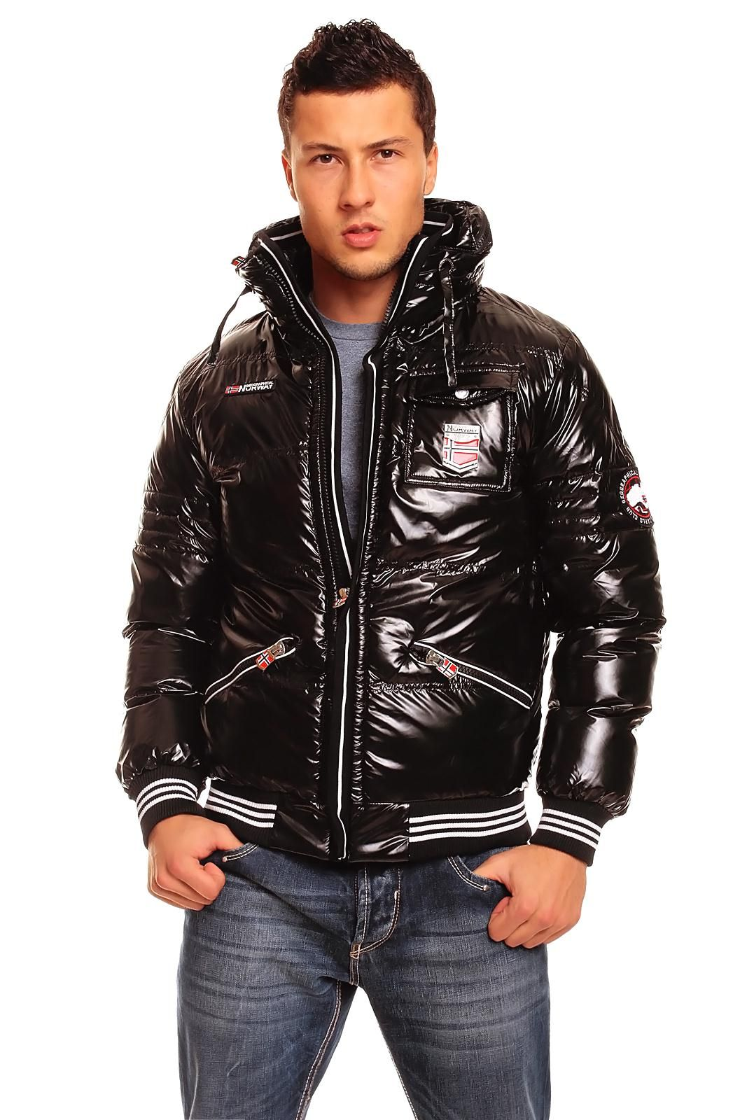"""Geographical Norway """"Columbo"""" shiny winter jacket for men."""