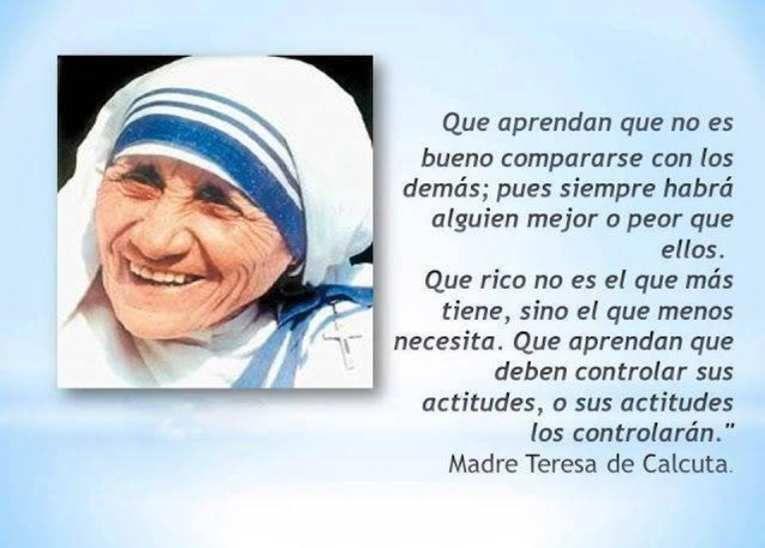 Resultado De Imagen Para Frases De La Madre Teresa De