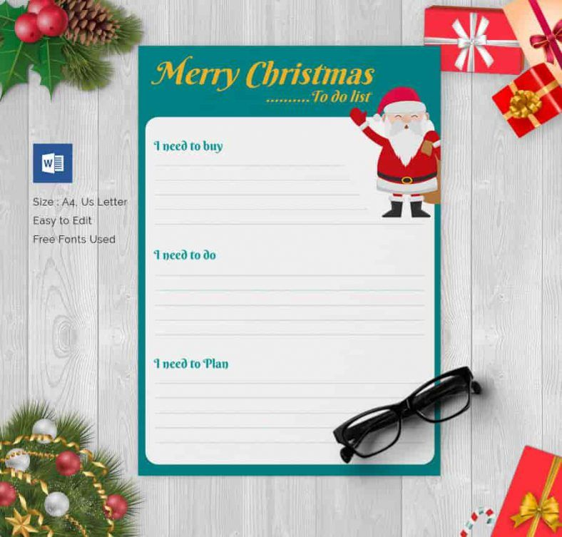 Christmas Gift List Template Free Download 788x753 , 24+ Christmas
