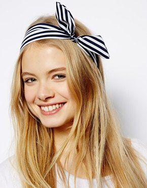 Stripe Print Tie Hairband