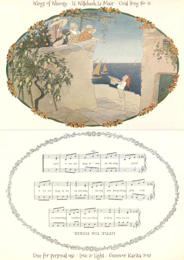 1912 Henriette Willebeek Le Mair – Oval Songs | PRINTABLES