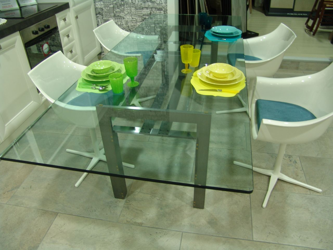 Tavolo Scarpa ~ Vintage model table four model chairs by tobia scarpa