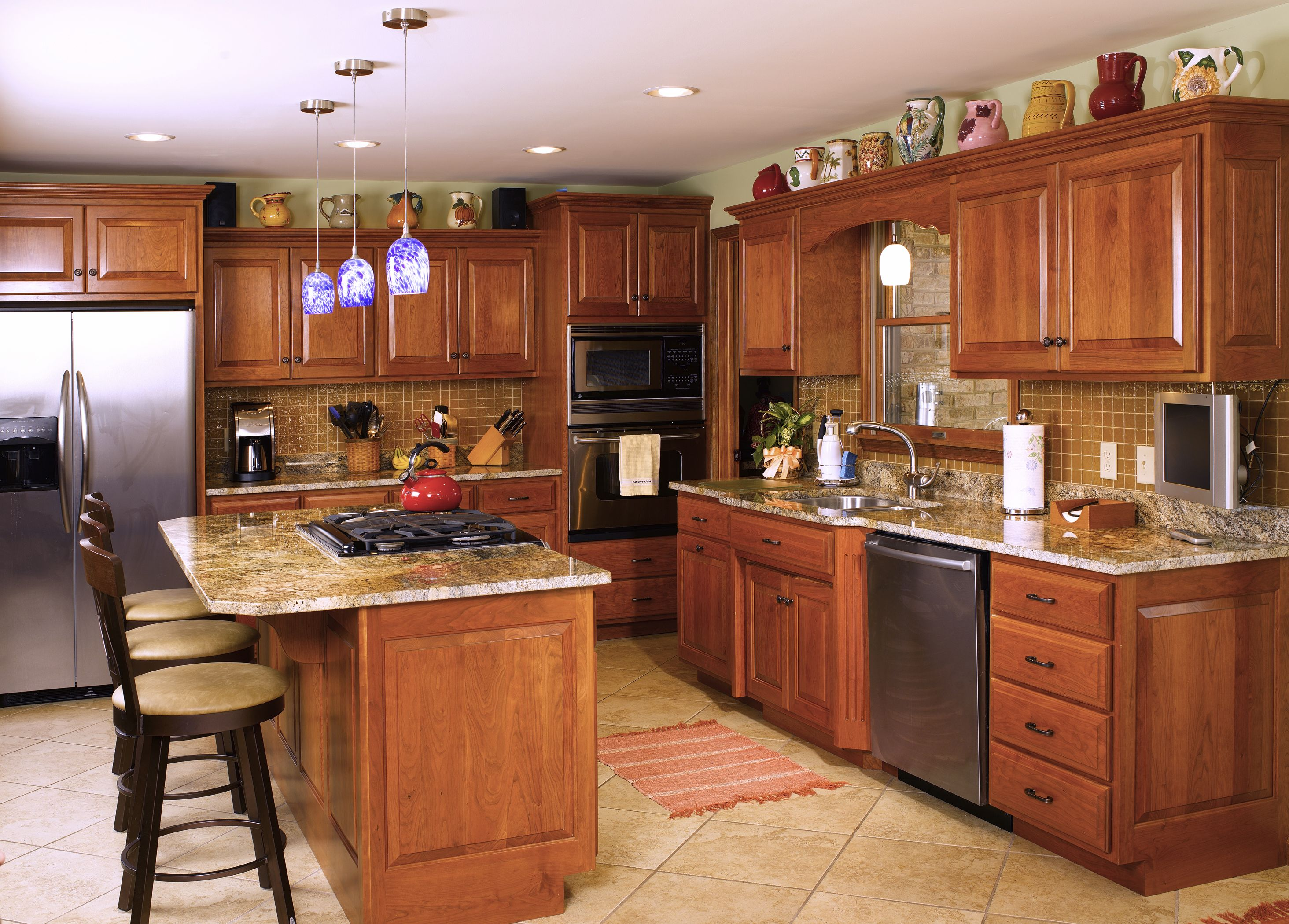 Amish Built Kitchen Amish Kitchen Cabinets Kitchen Cabinets Reviews Cherry Cabinets Kitchen