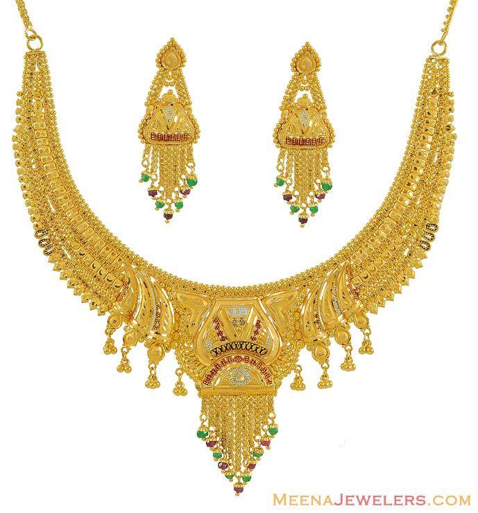 Gold Necklace Designs | ANDINO JEWELLERY | Jewellery | Pinterest ...