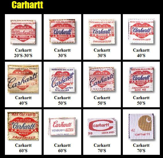 Vintage Carhartt Clothing Labels