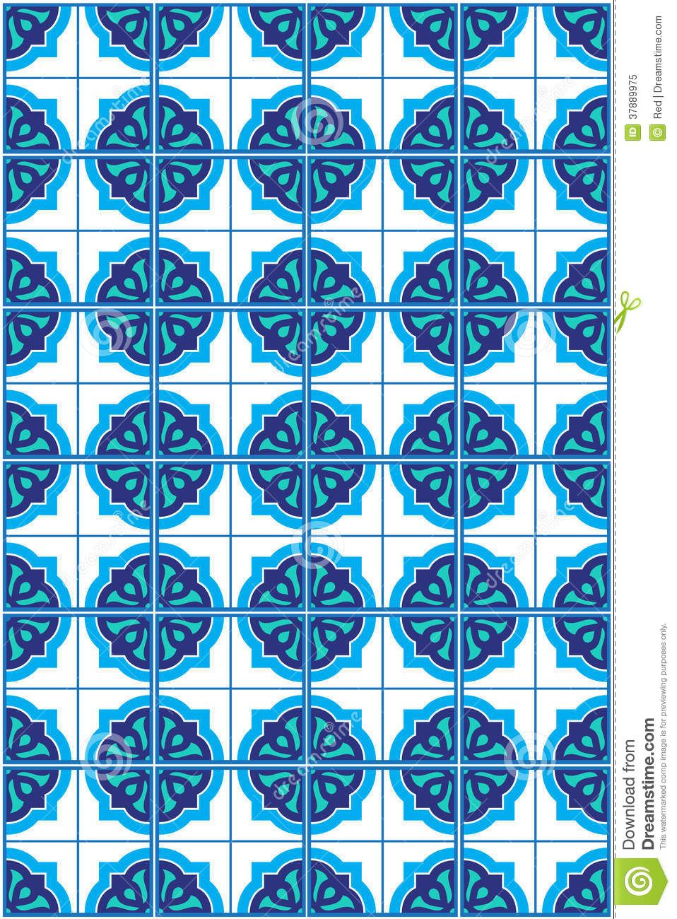 Blue Moroccan Mosaic Tile Pattern | tiles | Pinterest | Tile ...