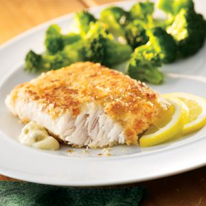 Potato crusted fish by publix aprons i made this tonight for Fish and broccoli diet