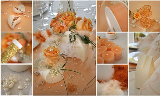 Tischdeko In Apricot Und Creme Tischdeko In Orange Pinterest