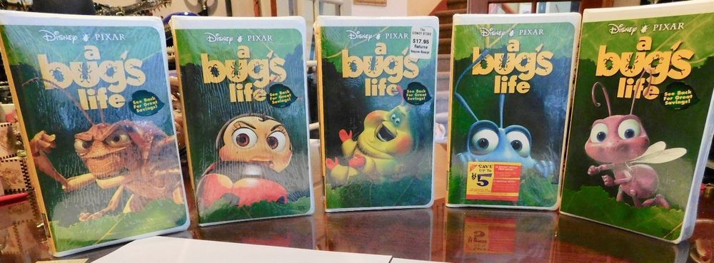 Lot Of 5 Different Covers A Bugs Life Vhs 1999 Disney Factory Sealed Mint Disney Vhs Tapes Vhs Vhs Movie