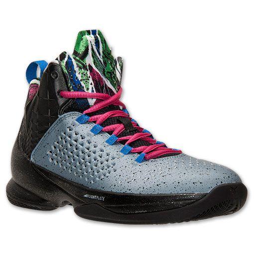 new styles 2d7fc 44b8a Men s Jordan Melo M11 Basketball Shoes   Finish Line   Blue Graphite Metallic  Silver