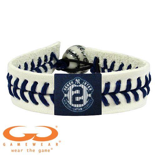 New York Yankees Derek Jeter Retirement Commemorative Logo Classic White Seam Bracelet Mlb Com Shop Derek Jeter New York Yankees Articulos De Beisbol