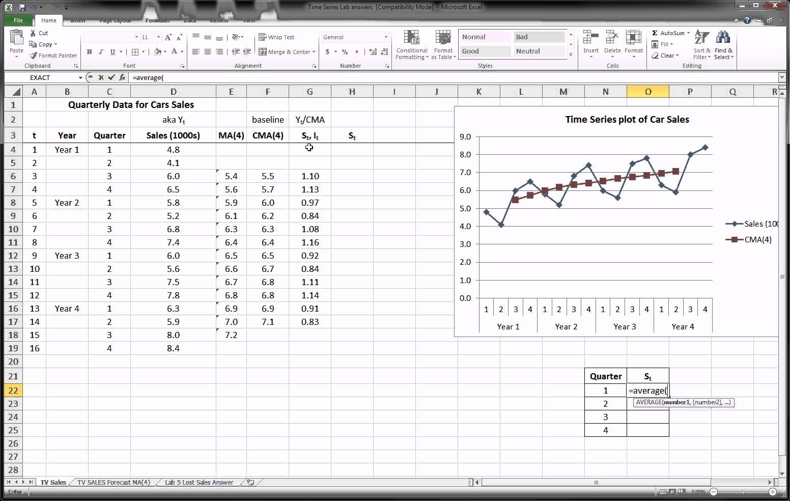 Excel Time Series Forecasting Part 2 Of 3 Time Series Excel Forecast