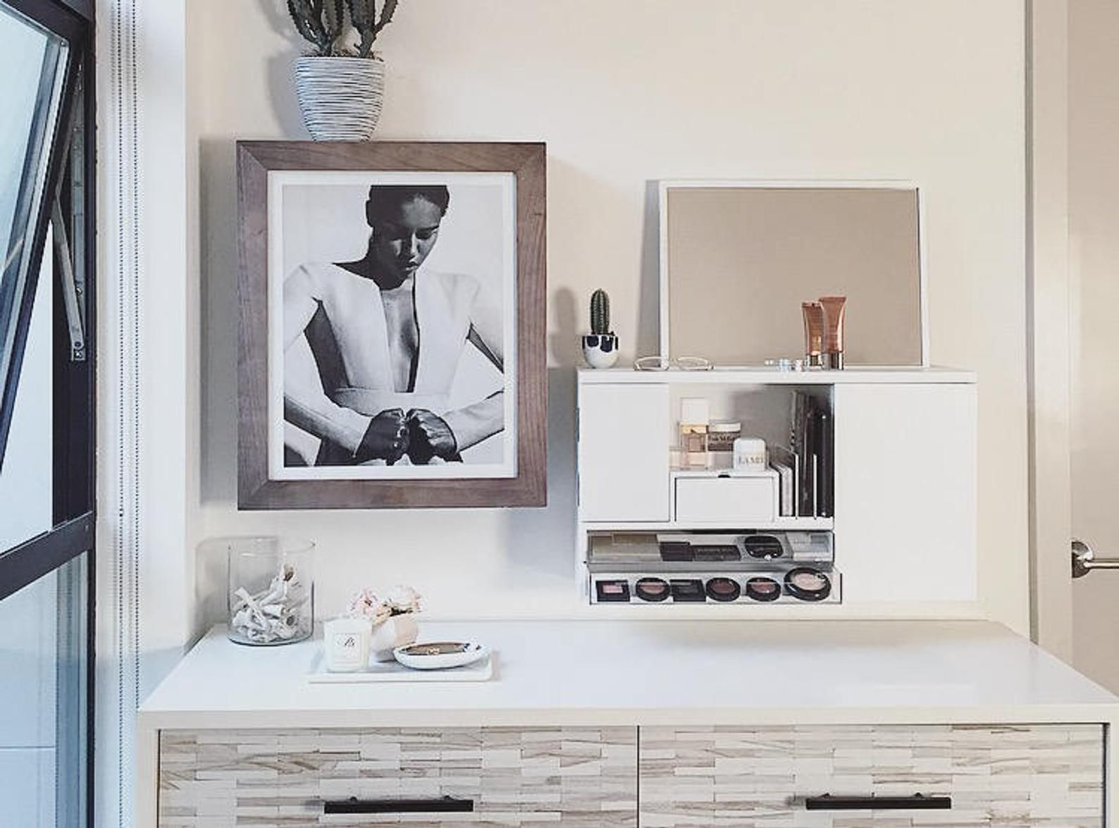 Pre Sale White Wall Mounted Counter Top Makeup Organizer Etsy