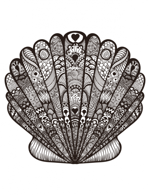Advanced Oyster Coloring Page