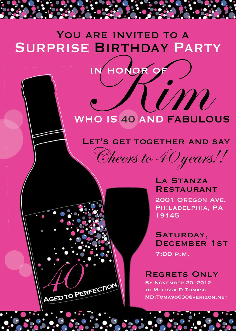 Create Easy 40th Birthday Invitations Templates Designs