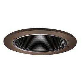 halo tuscan bronze baffle recessed light trim fits housing diameter