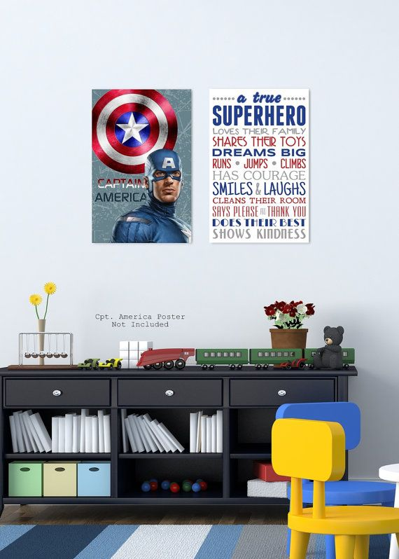 Printable Superhero Posters A True Super Hero Superhero Poster Superhero Subway Art 11x17 Superhero Poster Superhero Wall Decor Superhero Wall