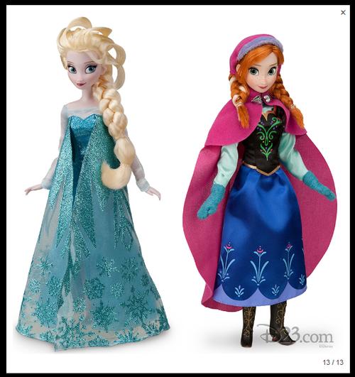 Groovy Target Disney Frozen Elsa Doll D23 Expo Previews Anna Elsa Hairstyles For Men Maxibearus