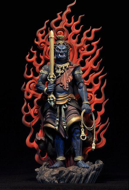 海洋堂 revoltech takeya 014 不動明王 buddhist art buddha art buddhism art