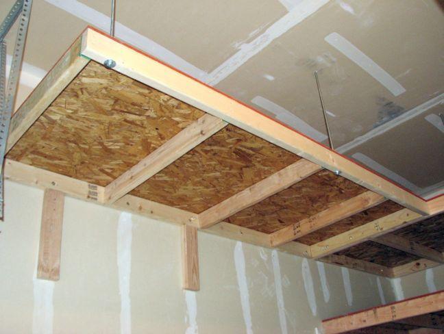 Garage Hanging Storage Diy Garage Design Ideas And More Diy Overhead Garage Storage Overhead Garage Storage Garage Hanging Storage