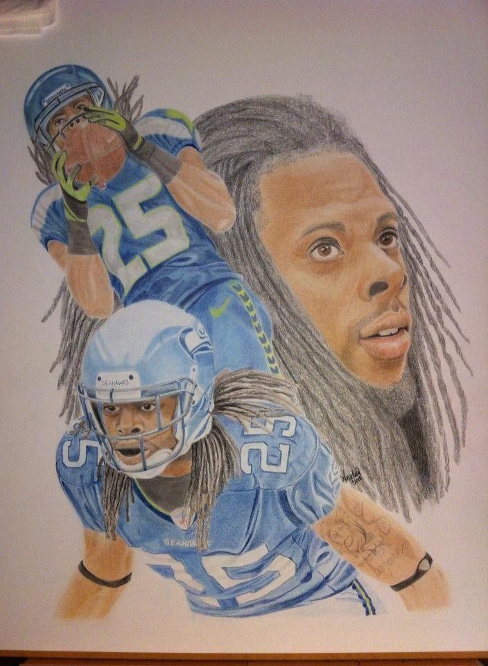 My Richard Sherman drawing. #Seahawks | Ummm! Richard ...