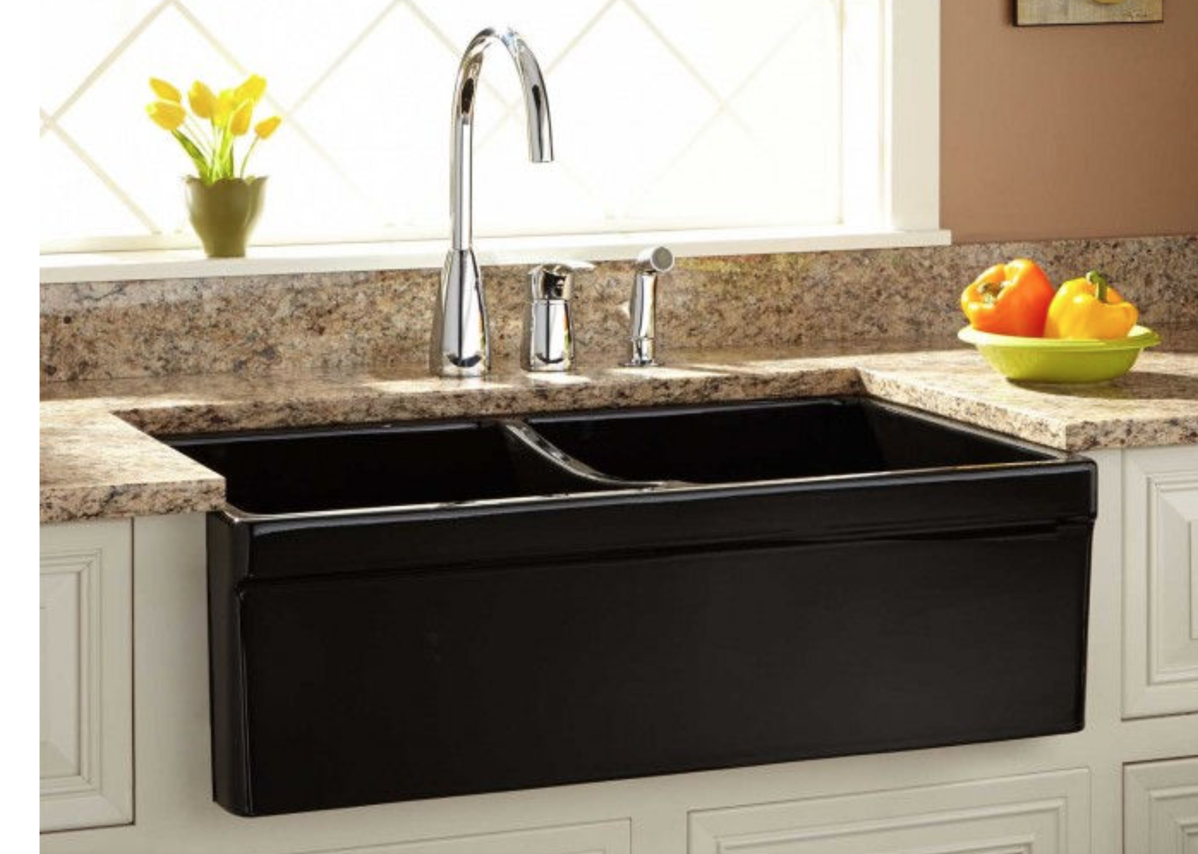 Heather Wants To Do A Composite Sink That Is Black U0026 Apron Front Bigger  Than 33