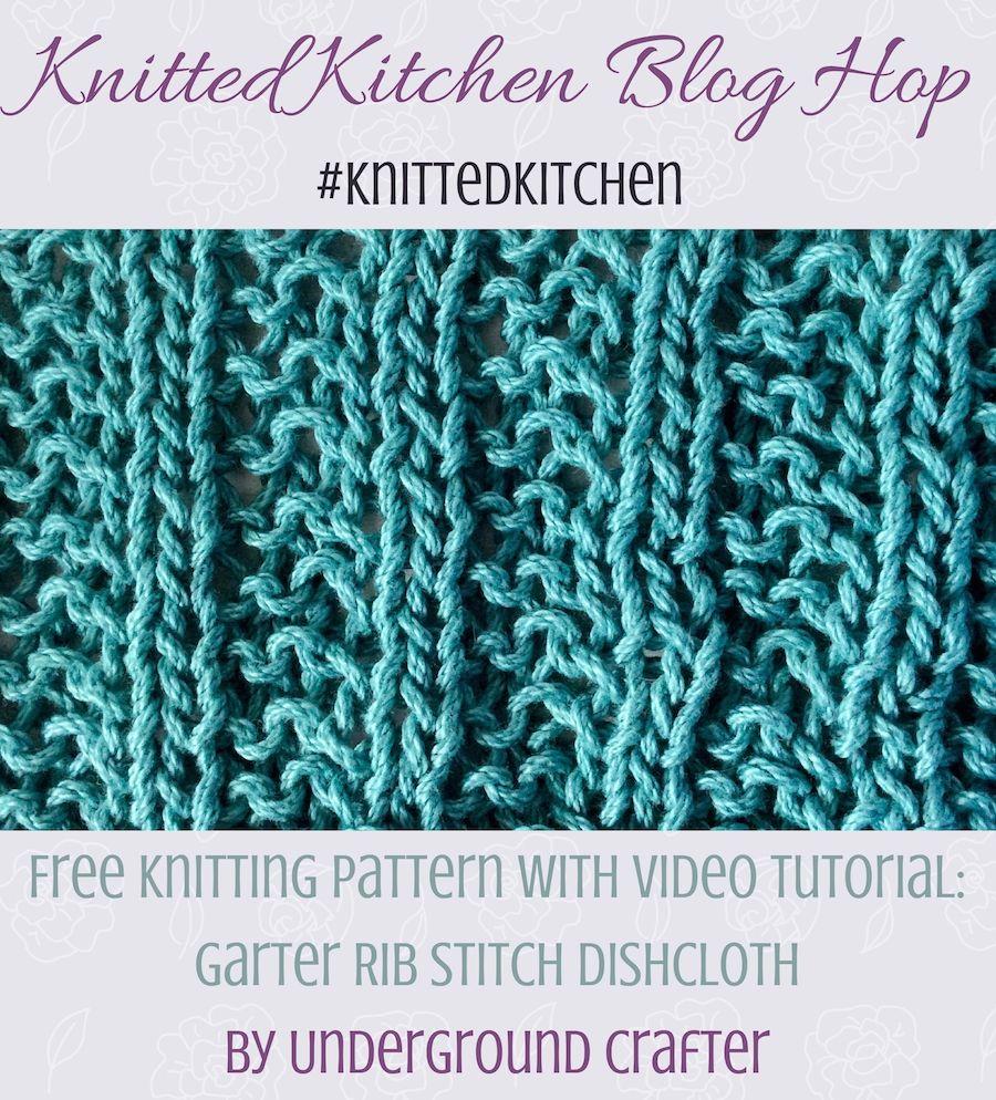 Garter rib stitch dishcloth free knitting pattern in lion brand garter rib stitch dishcloth free knitting pattern in lion brand 247 cotton yarn bankloansurffo Choice Image