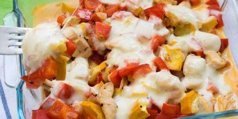 Low Carb Mozzarella Paprika Auflauf mit saftigen Hähnchen ...