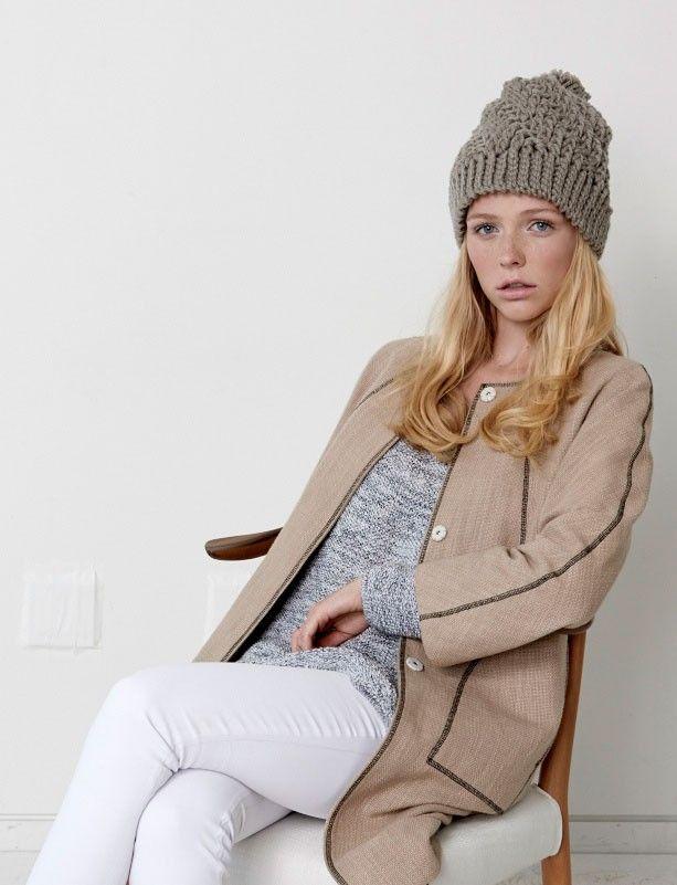 Yarnspirations.com - Bernat Stepping Texture Hat - Patterns ...