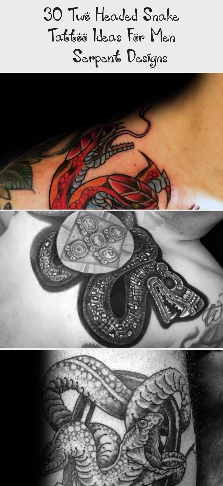 Photo of 30 idées de tatouage de serpent à deux têtes pour hommes – Designs de serpent – Tatouages et art corporel