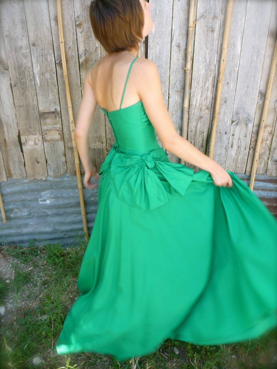 Evening Gown of Kelly Green. $135.00, via Etsy.