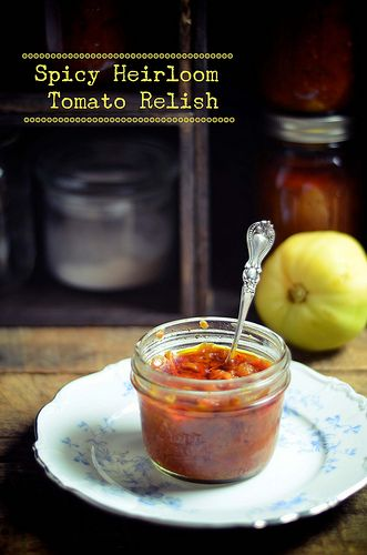 Spicy heirloom tomato relish by abrowntable, via Flickr