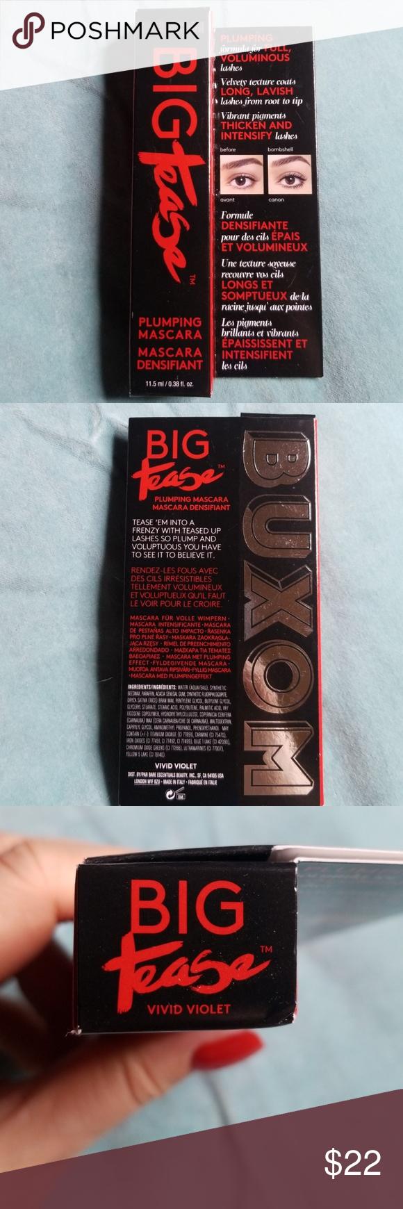 82bf4e680ce Buxom big tease plumping mascara Full size nib never opened vivid violet  color Buxom Makeup Mascara