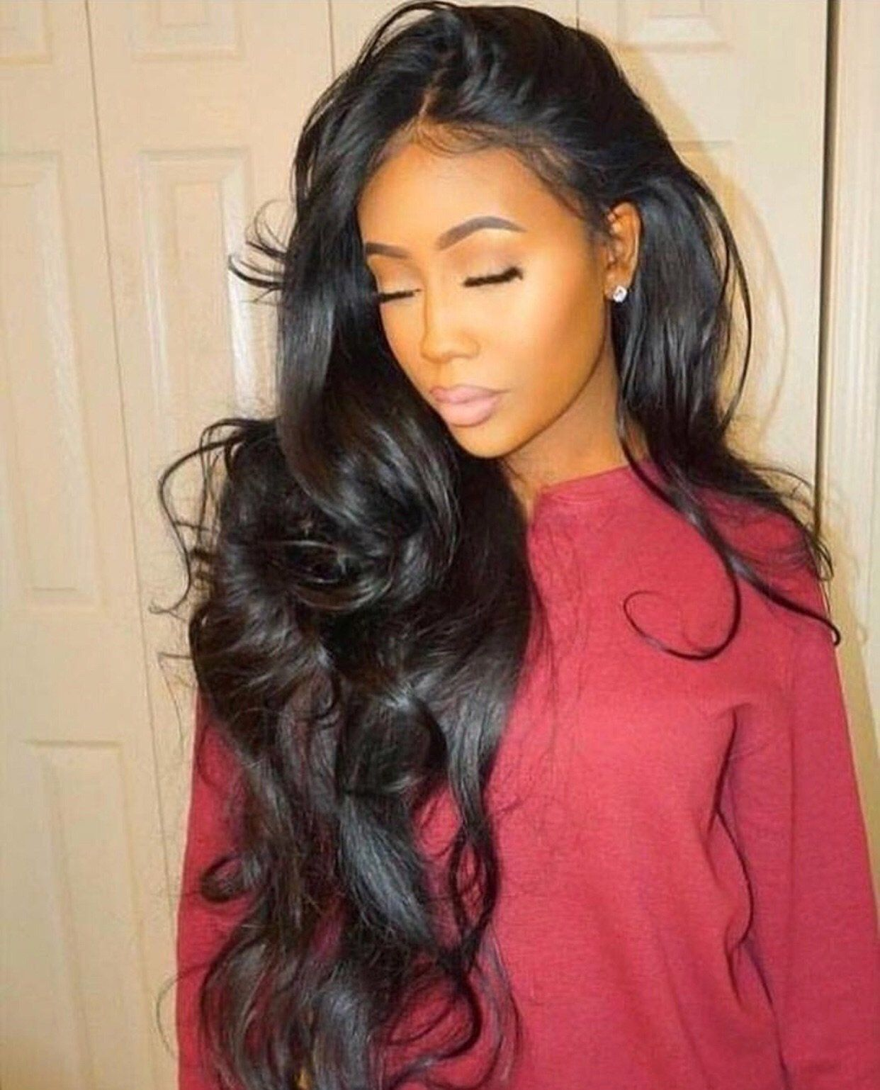 100% brazilian virgin hair lace front wig body wave with