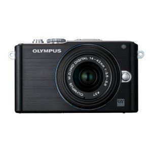 "Olympus Pen E-PL3 Compact System Camera - Black (M.ZUIKO Digital 14 -42mm II R Lens Kit)    Appaz this is a ""one up"" of the previous one I pinned. still less than 300 pounds"