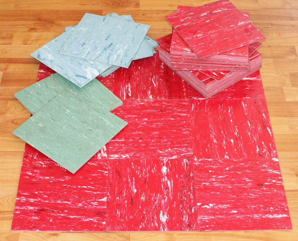 58 vintage 1950s asphalt linoleum floor tiles mid century red aqua 58 vintage 1950s asphalt linoleum floor tiles mid century red aqua blue 9x9 dailygadgetfo Image collections