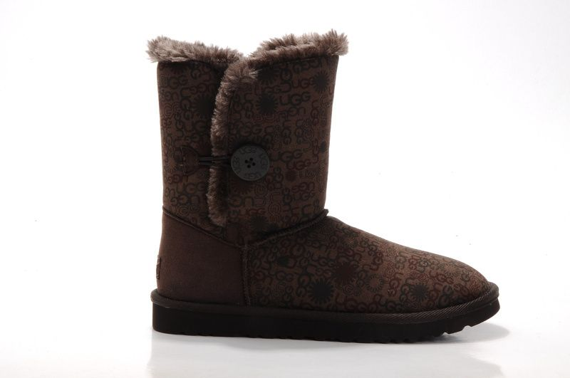 UGG Boots - Bailey Button - Chocolate ugg-printed - 5803